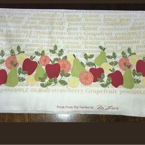 M Liss Fruit Border Fabric 4 Yds 42 x 144 Garden